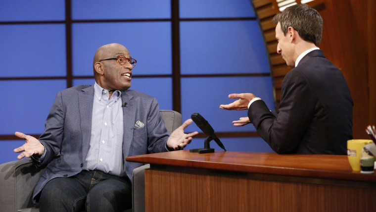 LATE NIGHT WITH SETH MEYERS -- Episode 064 -- Pictured: (l-r) Al Roker during an interview on June 19, 2014 -- (Photo by: Lloyd Bishop/NBC)