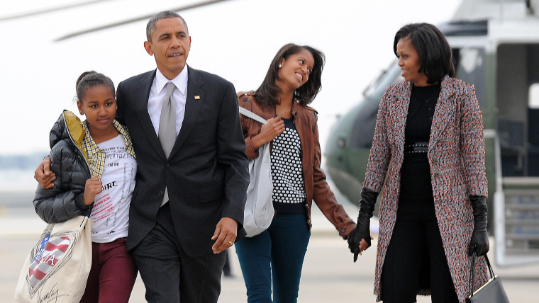 """President Barack Obama and wife Michelle want their teenage daughters to experience the type of minimum-wage work they both once did, saying """"every kid needs to get a taste of what it's like to do that real hard work."""""""