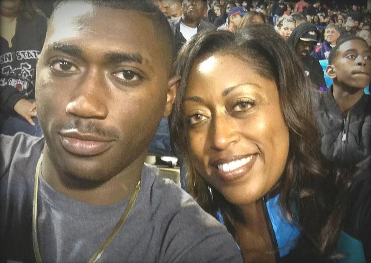 Meika Mashack with son Kwesi