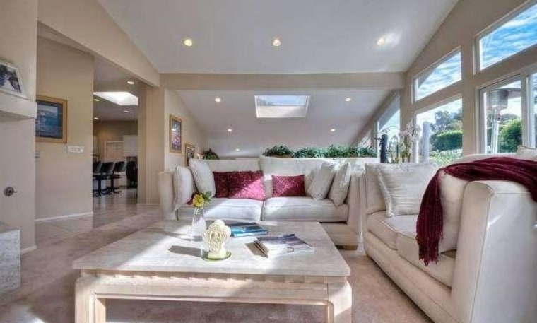 The Malibu home has four bedrooms and four bathrooms.