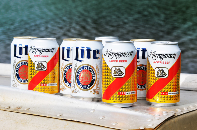 Narragansett and Miller Lite have both come out with retro cans.