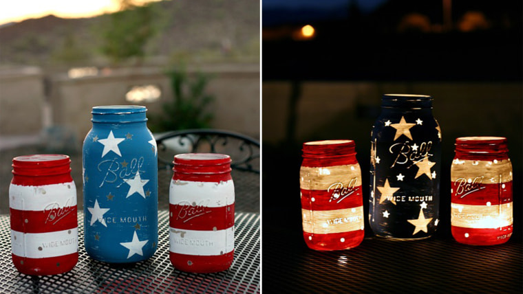 Fourth Of July Crafts Patriotic Mason Jars For Independence Day