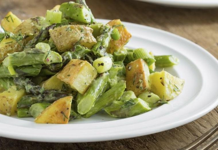 Avocado potato salad by Angela Liddon