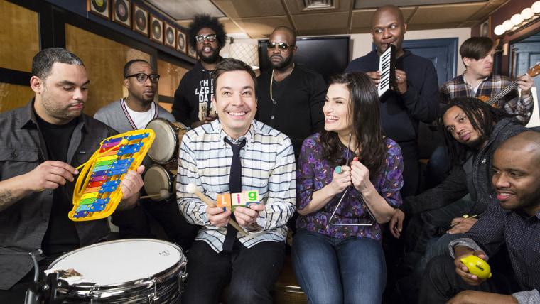Idina Menzel, Jimmy Fallon, Let It Go, Tonight Show