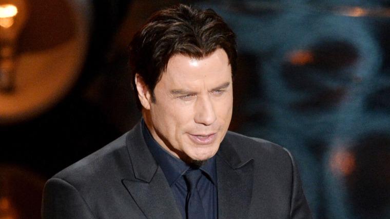 Actor John Travolta at the Oscars.