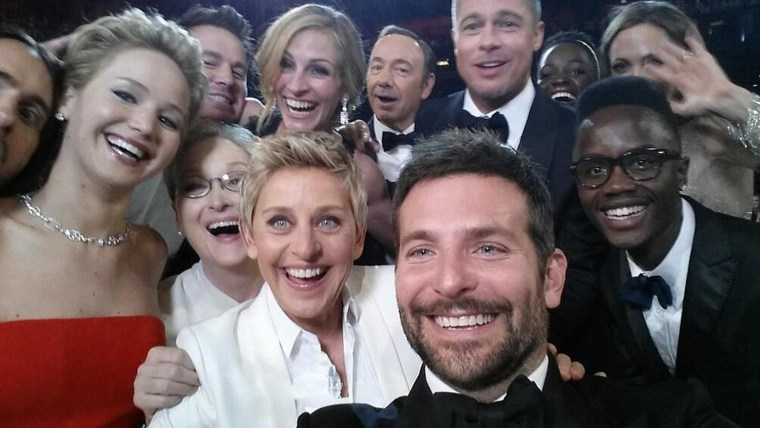 IMAGE: Ellen Oscar selfie