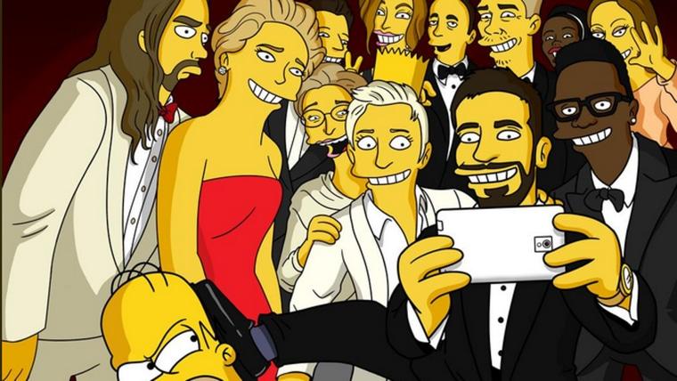 """""""The Simpsons"""" spoof Ellen's Oscars selfie"""