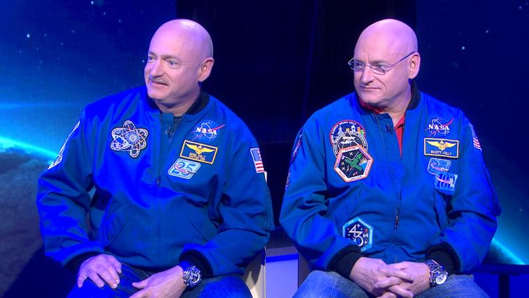 Mark Kelly and Scott Kelly.