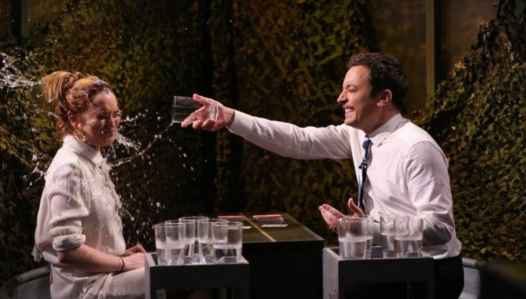Image: Lindsay Lohan and Jimmy Fallon.