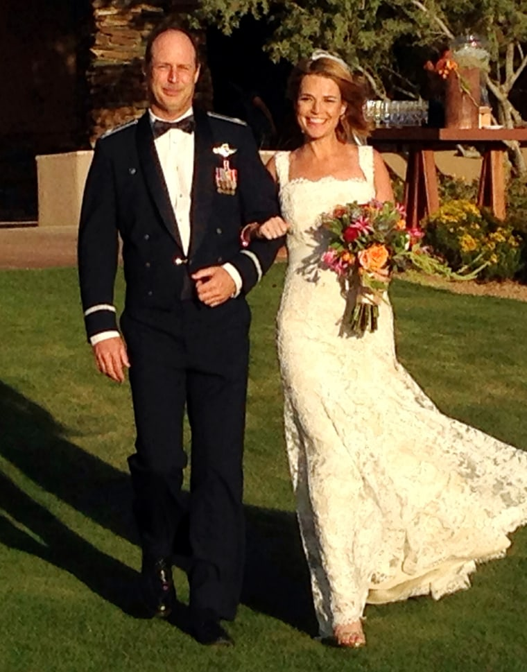 Savannah's brother, Camron, walked her down the aisle.