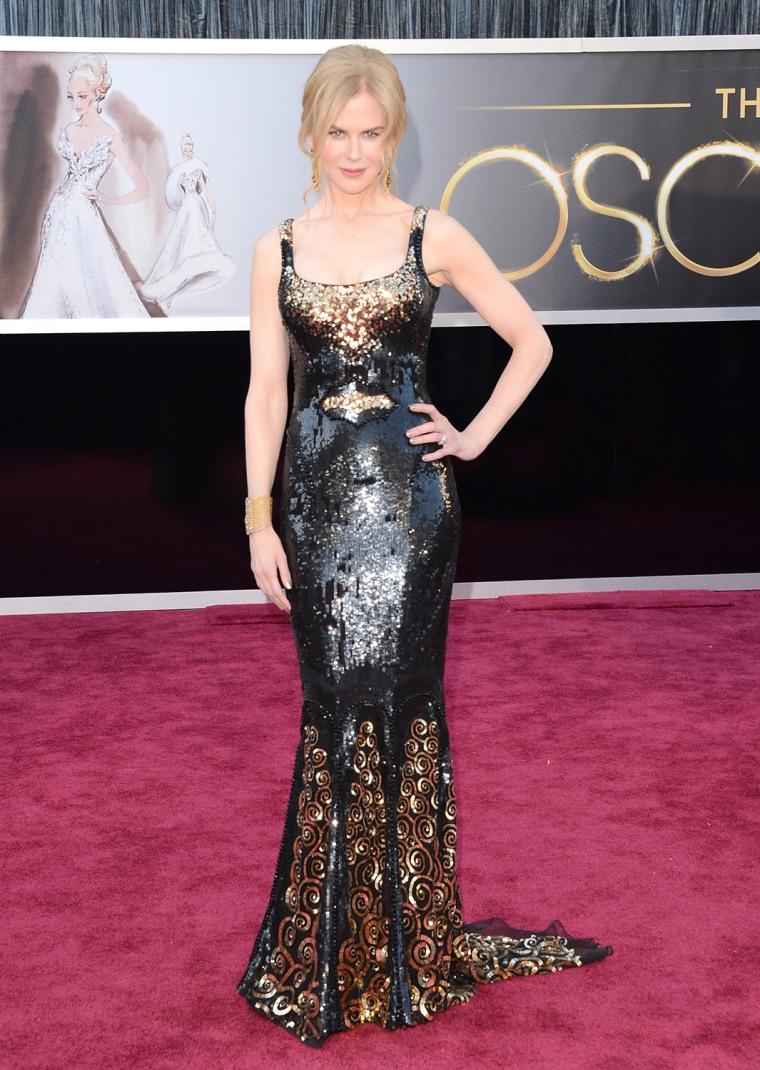 HOLLYWOOD, CA - FEBRUARY 24:  Actress Nicole Kidman arrives at the Oscars at Hollywood & Highland Center on February 24, 2013 in Hollywood, California...
