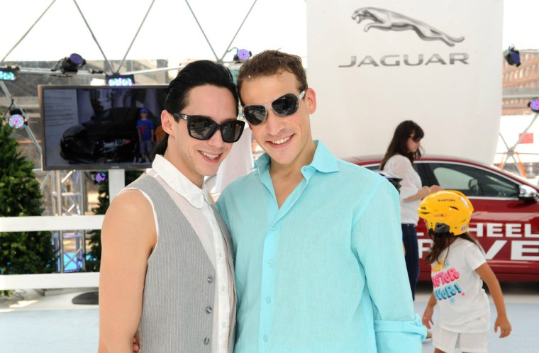 Figure skater Johnny Weir and husband Victor Voronov have separated. The couple were married in 2011. NEW YORK, NY - AUGUST 17:  Two ...