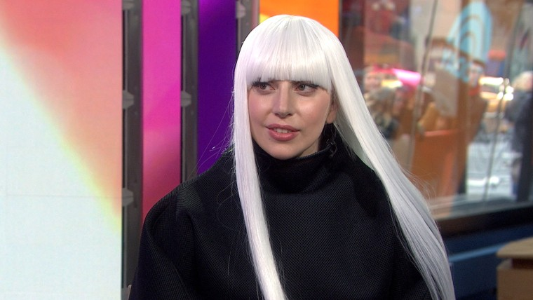 Lady Gaga speaks to Savannah Guthrie on TODAY.