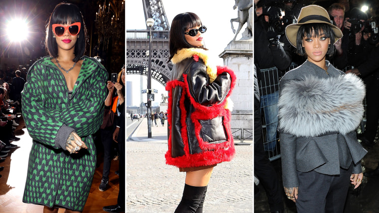 PARIS, FRANCE - MARCH 03:  Rihanna attends the Stella McCartney show as part of the Paris Fashion Week Womenswear Fall/Winter 2014-2015 on March 3, 20...