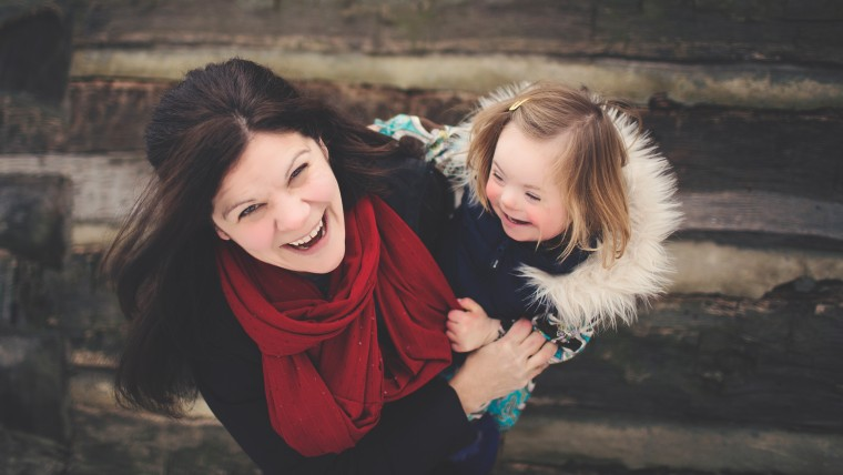 Katie Driscoll and her daughter Grace