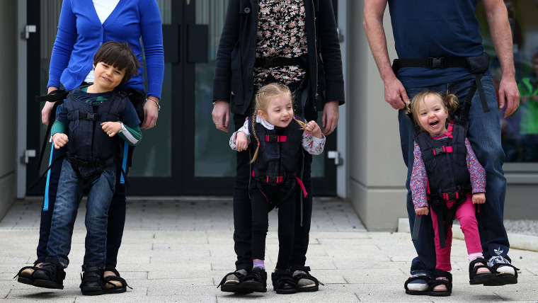 Mom's harness invention gives kids a chance to walk