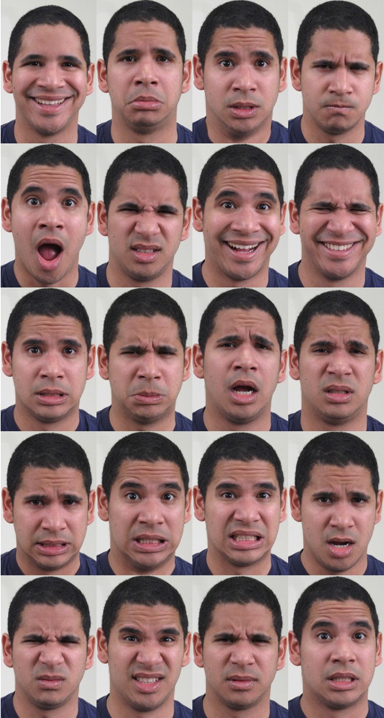 A range of facial expressions