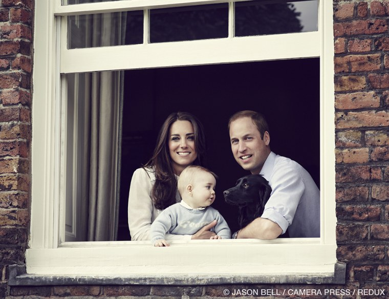 Palace releases new family photo of Prince George