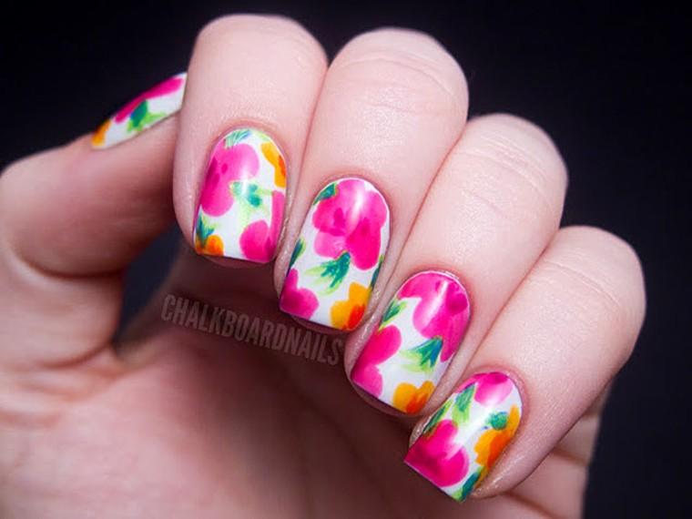 Floral Nail Art Nail Designs To Diy