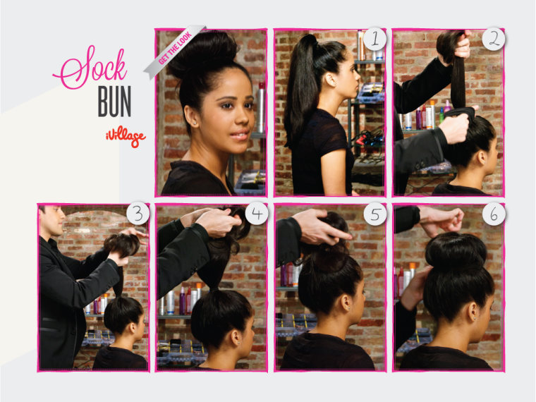 Sock Bun: DIY Hairstyles