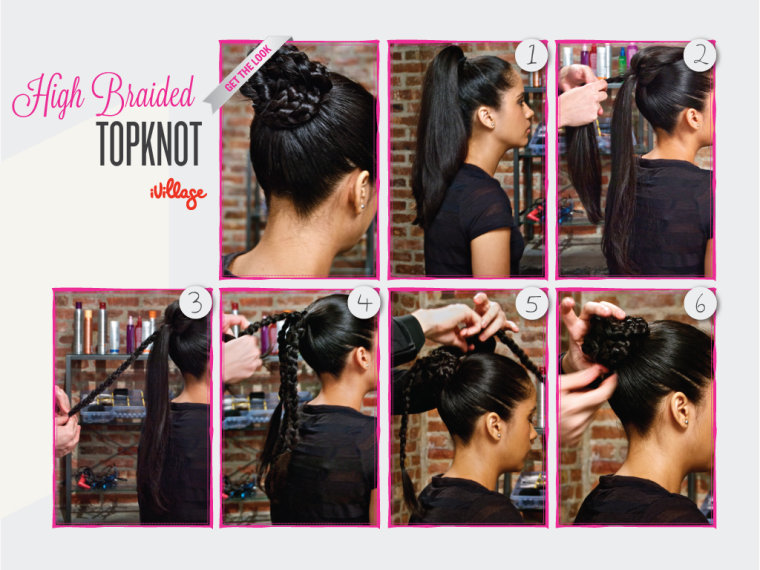 DIY Hairstyle - High Braided Topknot