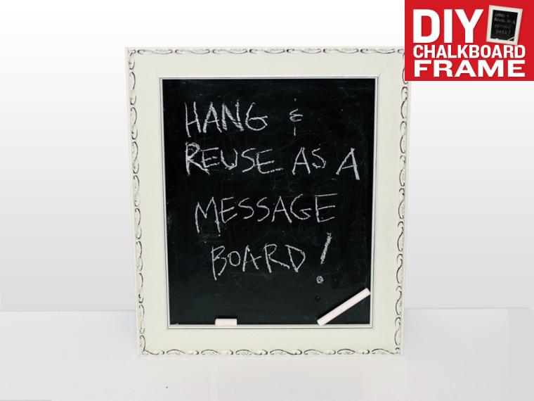 DIY Chalkboard Frame Message Board