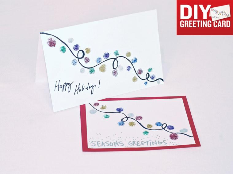 DIY holiday greeting cards