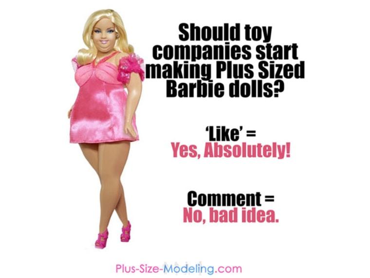 plus size barbie