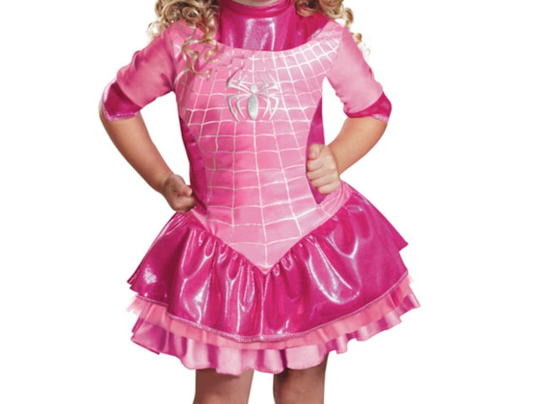 Pink Spider Girl Costume Angers Moms