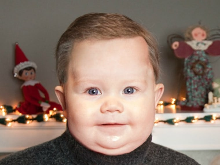 This might be the most amazing -- and creepiest -- holiday card of all time.