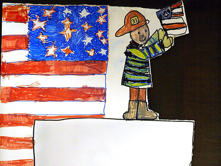 Child's drawing of 9/11 -- How to Talk to Kids About September 11: Age by Age