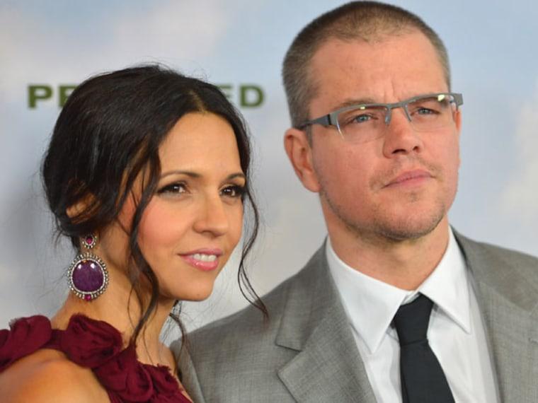 Matt Damon and Wife Renew Vows