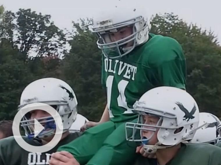 Olivet School Football Team Lets Disabled Player Score