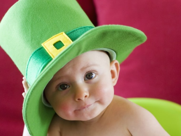 Boy with Green Hat -- Irish Boy Names for Babies
