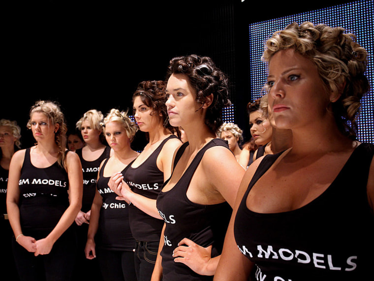 plus-size models at Martin Place Collection Showroom
