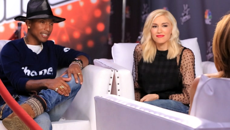 Image: Pharrell Williams and Gwen Stefani