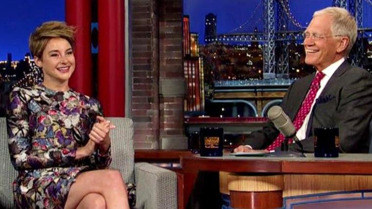 Image: Shailene Woodley, David Letterman