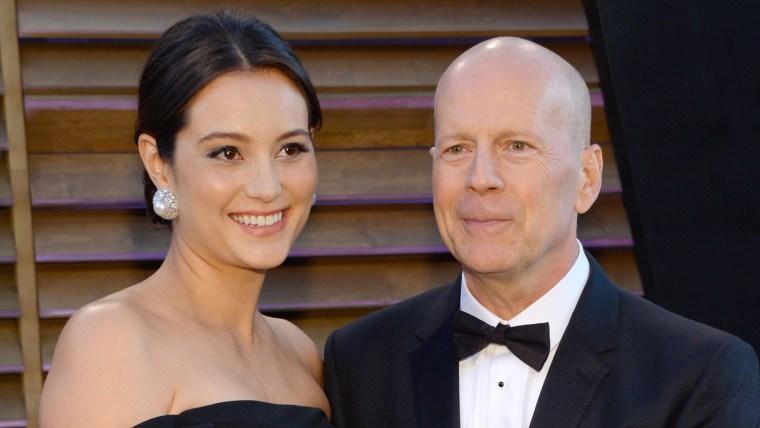 Image: Bruce Willis and Emma Heming