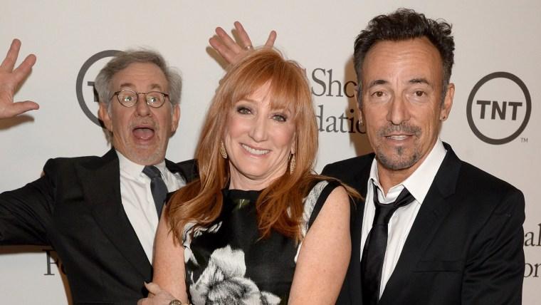 Image: Steven Spielberg, Patti Scialfa, Bruce Springsteen
