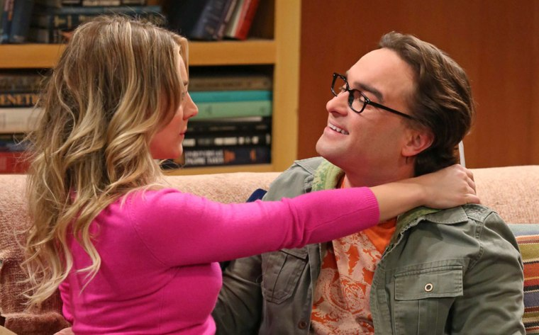 """Image: Penny and Leonard on """"Big Bang Theory"""""""