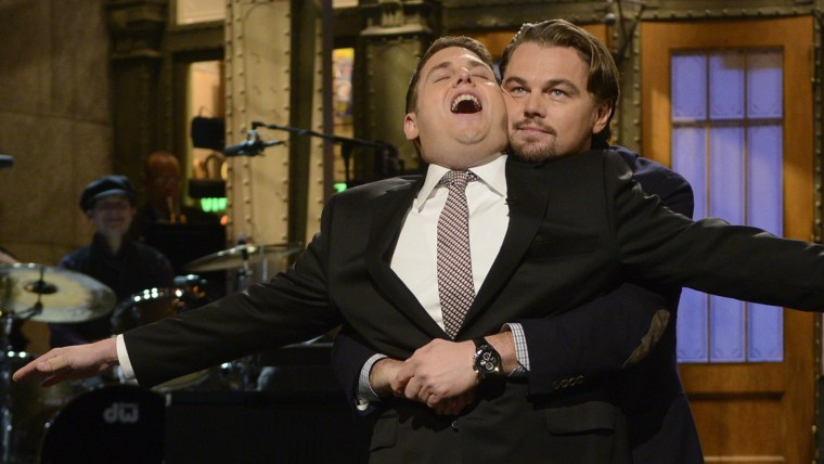 Image: Jonah Hill, Leonardo DiCaprio