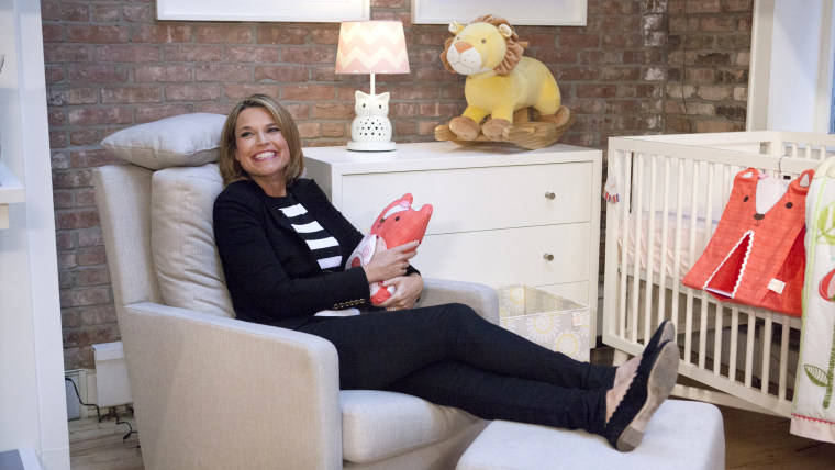 TODAY Show: Savannah Guthrie and her mom Nancy Guthrie meet and go shopping at a baby store in Soho, New York on April 30, 2014. Nancy gives her daugh...