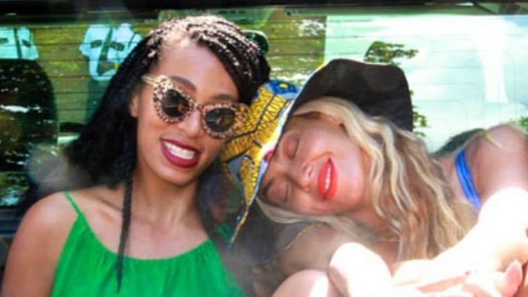 Image: Solange and Beyonce Knowles