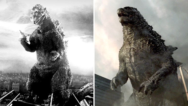 IMAGE: Godzilla then and now