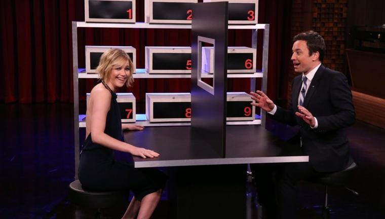 Image: Jennifer Lawrence and Jimmy Fallon