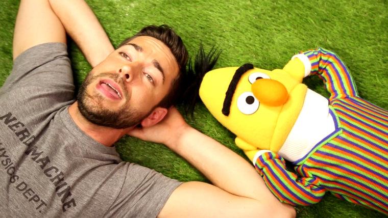Zachary Levi and Bert.
