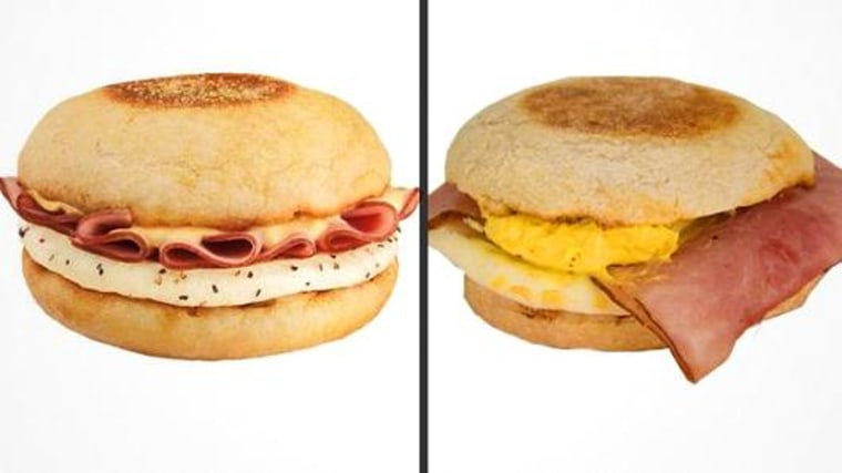Dunkin' Donuts Eggs Benedict sandwich