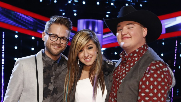 """Image: Josh Kaufman, Christina Grimmie and Jake Worthington finished in the top three, but there was only one """"Voice."""""""