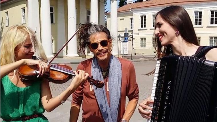 Image: Vera Primavera with Steven Tyler