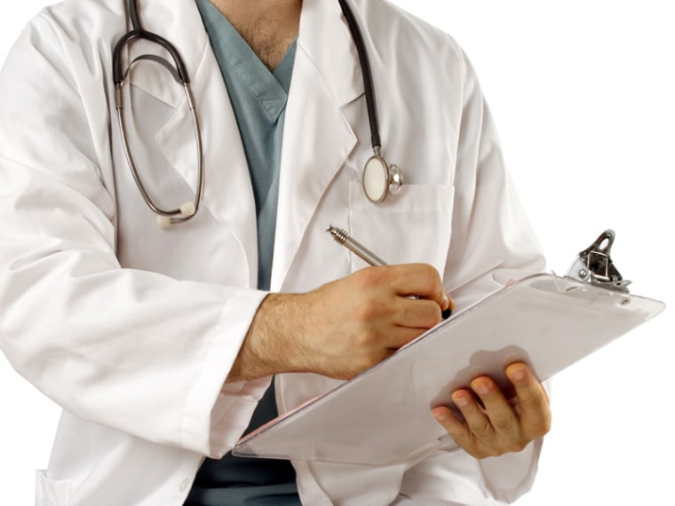 doctor chart writing medical